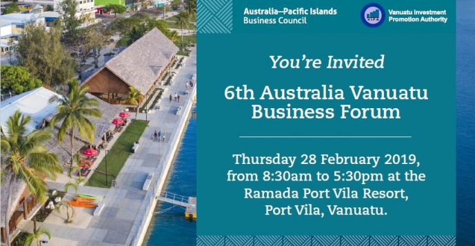 6th Australia Vanuatu Business Forum Registration Open